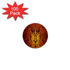 Lion Man Tribal 1  Mini Magnets (100 Pack)  by BangZart