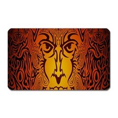 Lion Man Tribal Magnet (rectangular)
