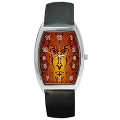 Lion Man Tribal Barrel Style Metal Watch by BangZart