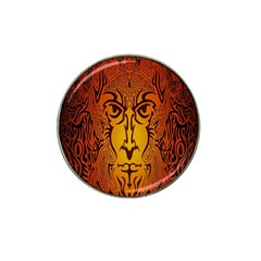 Lion Man Tribal Hat Clip Ball Marker (4 Pack) by BangZart