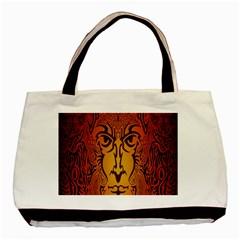 Lion Man Tribal Basic Tote Bag by BangZart