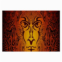 Lion Man Tribal Large Glasses Cloth (2-Side) by BangZart