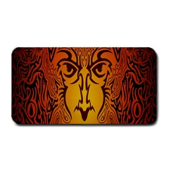 Lion Man Tribal Medium Bar Mats by BangZart
