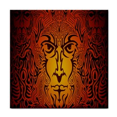 Lion Man Tribal Face Towel