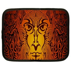 Lion Man Tribal Netbook Case (xxl)  by BangZart