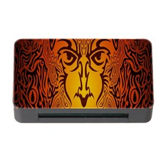 Lion Man Tribal Memory Card Reader With Cf by BangZart