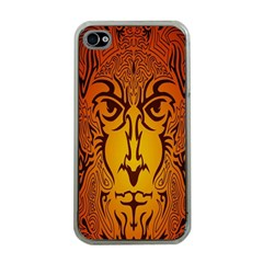 Lion Man Tribal Apple Iphone 4 Case (clear) by BangZart