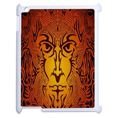 Lion Man Tribal Apple Ipad 2 Case (white) by BangZart