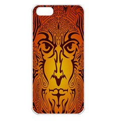 Lion Man Tribal Apple Iphone 5 Seamless Case (white) by BangZart