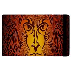 Lion Man Tribal Apple Ipad 3/4 Flip Case by BangZart