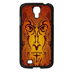 Lion Man Tribal Samsung Galaxy S4 I9500/ I9505 Case (black)