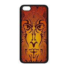 Lion Man Tribal Apple Iphone 5c Seamless Case (black) by BangZart