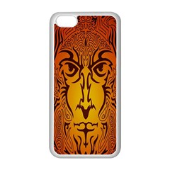 Lion Man Tribal Apple Iphone 5c Seamless Case (white)