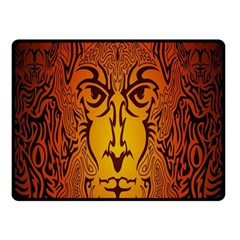Lion Man Tribal Double Sided Fleece Blanket (small)  by BangZart