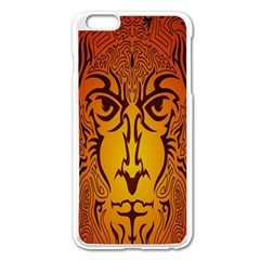 Lion Man Tribal Apple Iphone 6 Plus/6s Plus Enamel White Case
