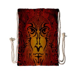 Lion Man Tribal Drawstring Bag (small)