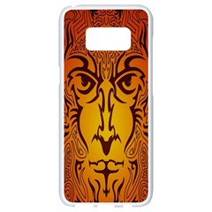 Lion Man Tribal Samsung Galaxy S8 White Seamless Case