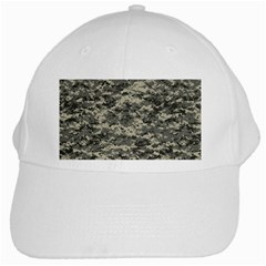 Us Army Digital Camouflage Pattern White Cap by BangZart