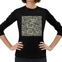 Us Army Digital Camouflage Pattern Women s Long Sleeve Dark T Shirts
