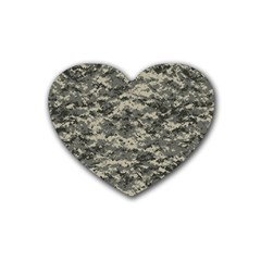Us Army Digital Camouflage Pattern Rubber Coaster (heart)  by BangZart