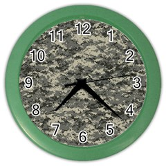 Us Army Digital Camouflage Pattern Color Wall Clocks by BangZart