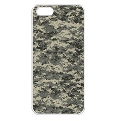 Us Army Digital Camouflage Pattern Apple Iphone 5 Seamless Case (white) by BangZart