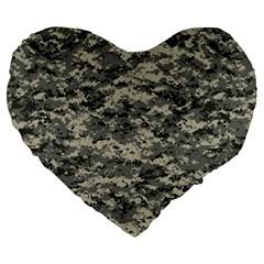 Us Army Digital Camouflage Pattern Large 19  Premium Heart Shape Cushions by BangZart