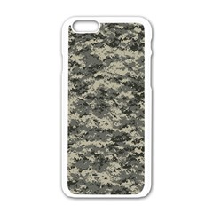 Us Army Digital Camouflage Pattern Apple Iphone 6/6s White Enamel Case