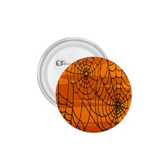 Vector Seamless Pattern With Spider Web On Orange 1 75  Buttons