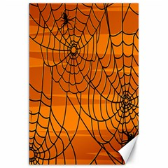 Vector Seamless Pattern With Spider Web On Orange Canvas 20  X 30