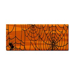 Vector Seamless Pattern With Spider Web On Orange Cosmetic Storage Cases