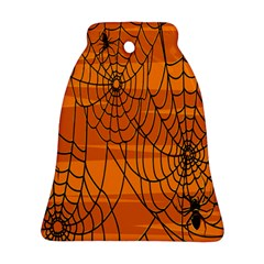 Vector Seamless Pattern With Spider Web On Orange Ornament (bell) by BangZart