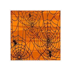 Vector Seamless Pattern With Spider Web On Orange Acrylic Tangram Puzzle (4  X 4 )