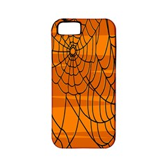 Vector Seamless Pattern With Spider Web On Orange Apple Iphone 5 Classic Hardshell Case (pc+silicone) by BangZart