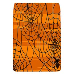 Vector Seamless Pattern With Spider Web On Orange Flap Covers (s)