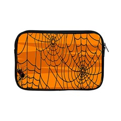 Vector Seamless Pattern With Spider Web On Orange Apple Ipad Mini Zipper Cases