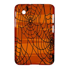 Vector Seamless Pattern With Spider Web On Orange Samsung Galaxy Tab 2 (7 ) P3100 Hardshell Case  by BangZart