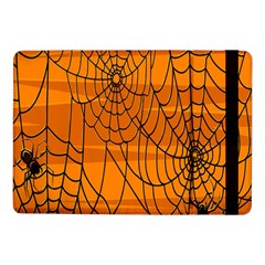 Vector Seamless Pattern With Spider Web On Orange Samsung Galaxy Tab Pro 10 1  Flip Case