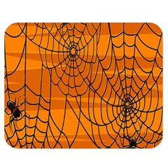 Vector Seamless Pattern With Spider Web On Orange Double Sided Flano Blanket (medium)  by BangZart