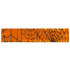 Vector Seamless Pattern With Spider Web On Orange Flano Scarf (small) by BangZart