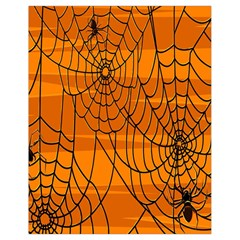 Vector Seamless Pattern With Spider Web On Orange Drawstring Bag (small) by BangZart
