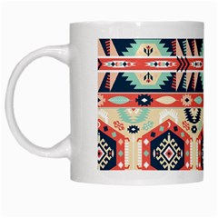 Aztec Pattern Copy White Mugs by BangZart