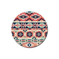 Aztec Pattern Copy Rubber Coaster (round)