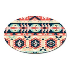Aztec Pattern Copy Oval Magnet by BangZart