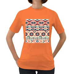 Aztec Pattern Copy Women s Dark T Shirt