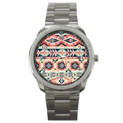Aztec Pattern Copy Sport Metal Watch by BangZart