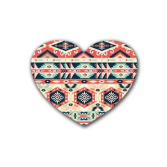 Aztec Pattern Copy Rubber Coaster (heart)