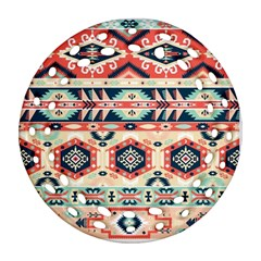 Aztec Pattern Copy Ornament (round Filigree)