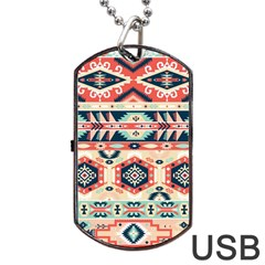 Aztec Pattern Copy Dog Tag Usb Flash (two Sides) by BangZart