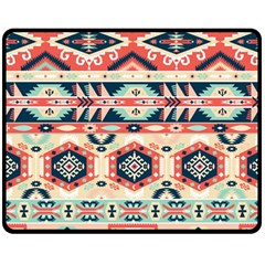 Aztec Pattern Copy Double Sided Fleece Blanket (medium)  by BangZart